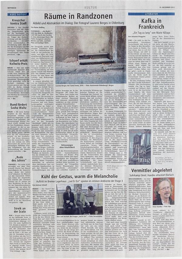 Syker Kreiszeitung, 19. Dezember 2012